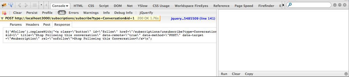 Rails js erb Remote Response not Executing - Alfa Jango Blog